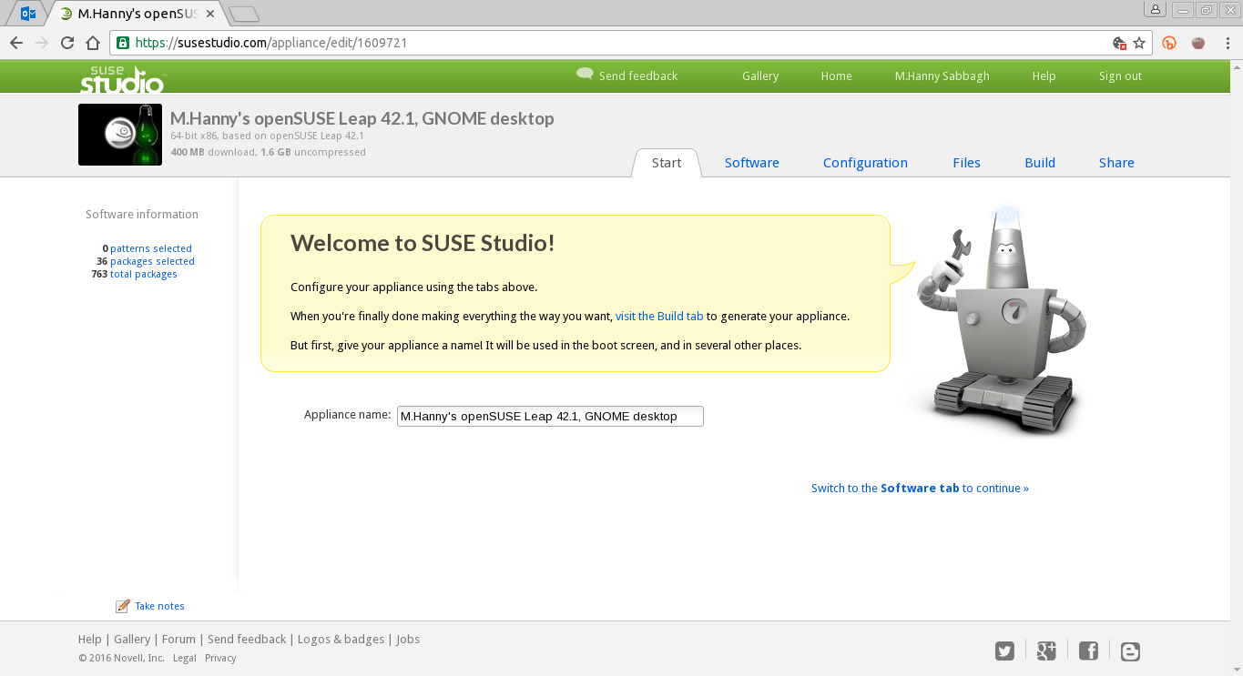 SUSE Studio Distribution Main Page