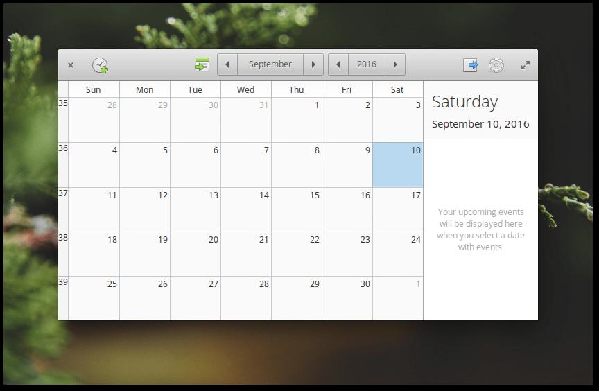 Elementary OS 0.4 Loki Calendar