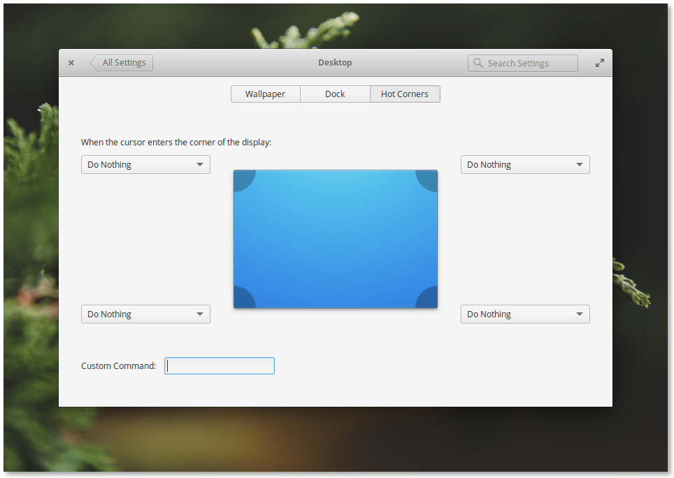 Elementary OS 0.4 Loki Desktop Settings