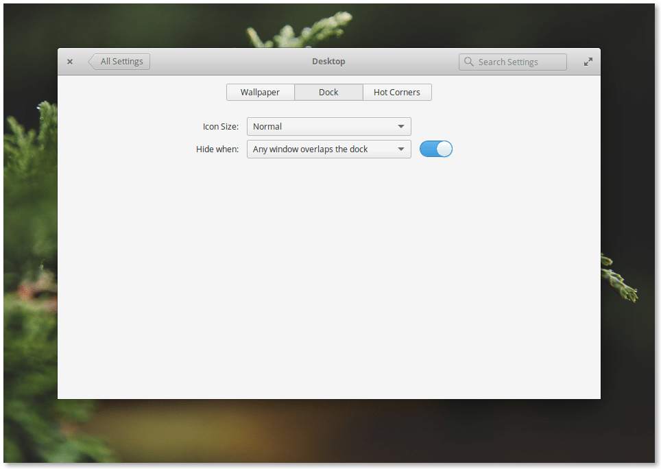 Elementary OS 0.4 Loki Dock Settings