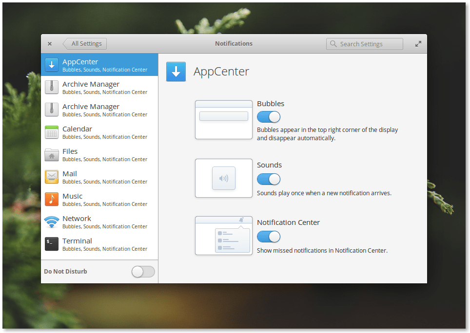 Elementary OS 0.4 Loki Notifications Settings