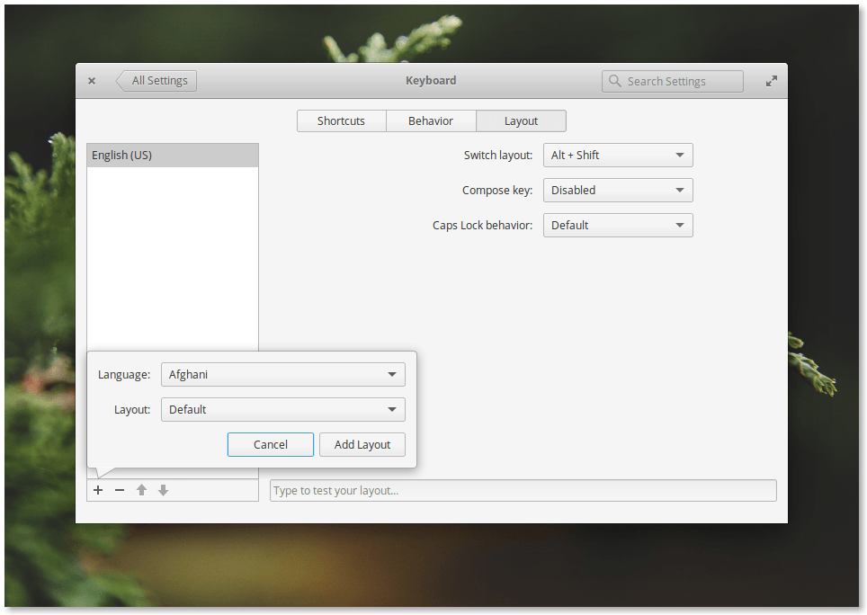 Elementary OS 0.4 Loki Keyboard Settings