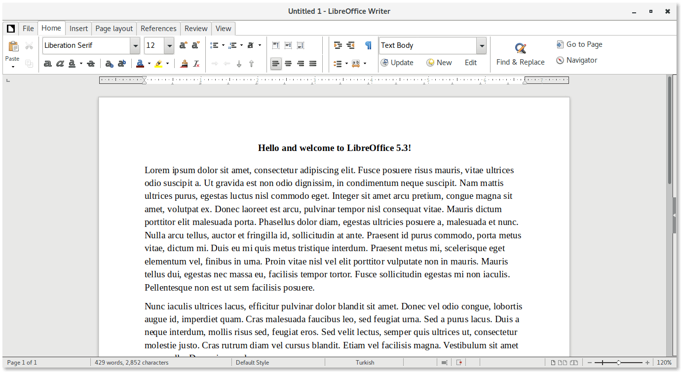 Libreoffice 5.3 Notebook Toolbar Mode