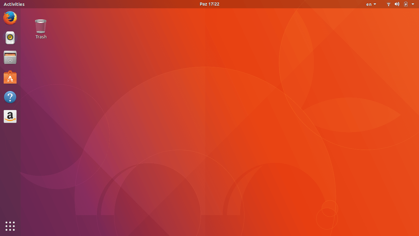 Default Ubuntu 17.10 Desktop Running GNOME Shell 3.26