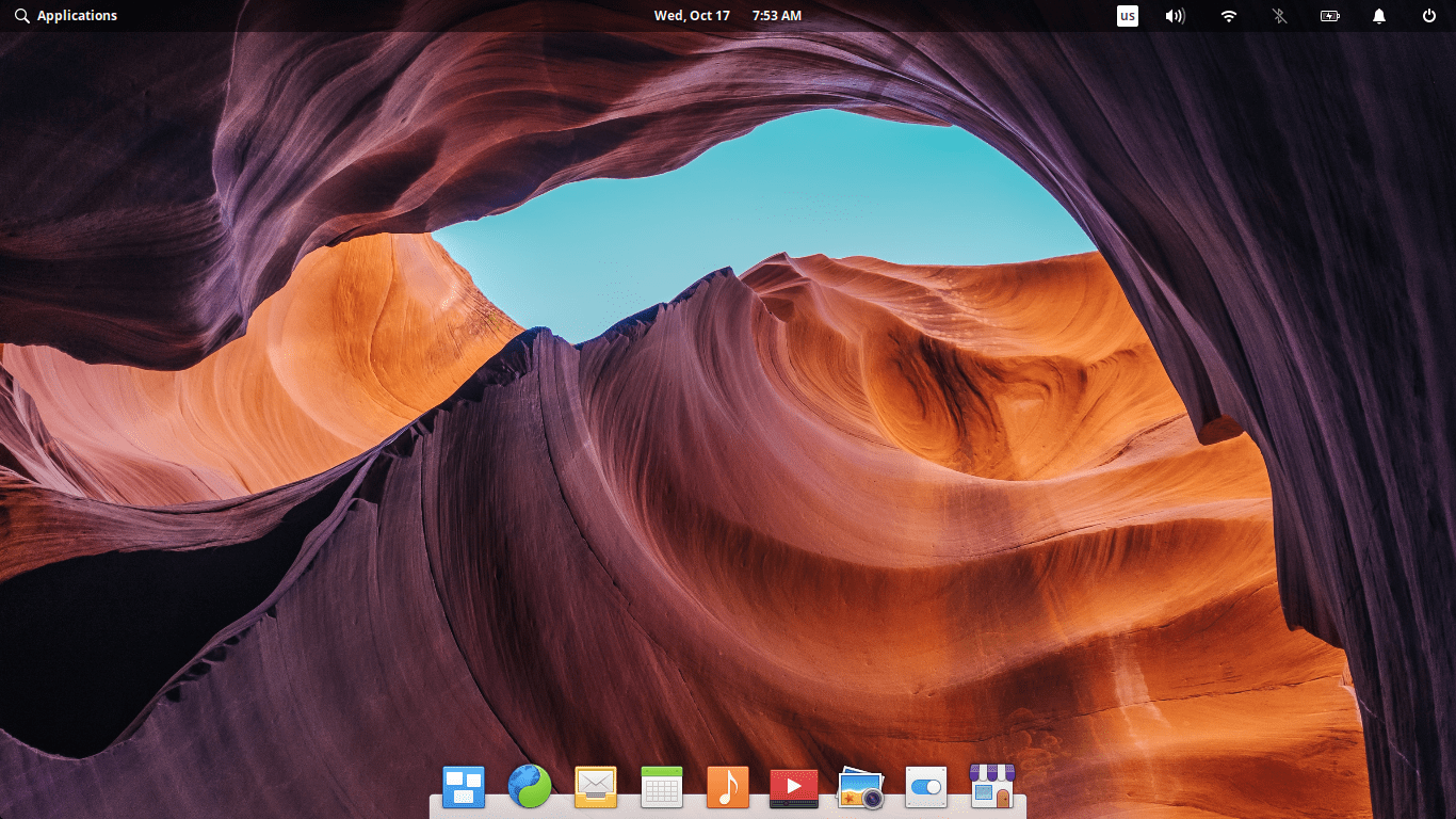 Default elementary OS 5.0 Juno Desktop