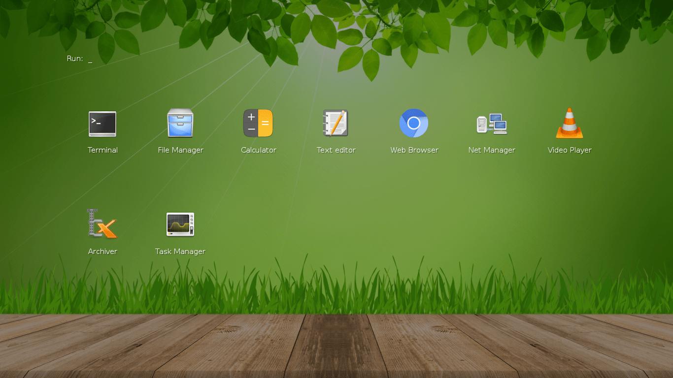 Slax 9.6 Default Desktop