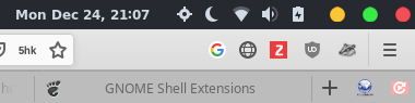 gnome extensions 19 December 24, 2018