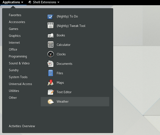 gnome extensions 21 December 24, 2018
