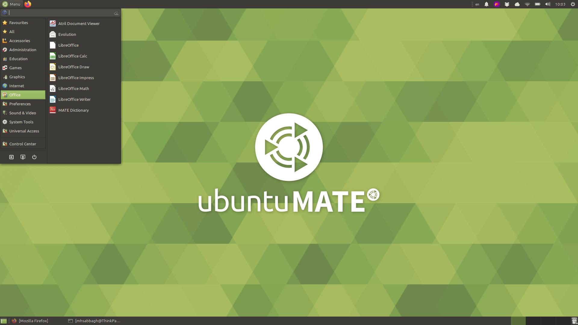Ubuntu mate 19.10 15 December 22, 2019
