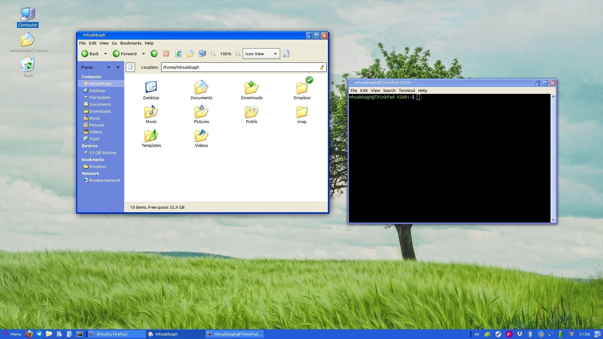 9 windows look on linux