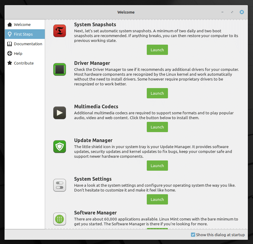 Linux Mint 20 11 July 17, 2020