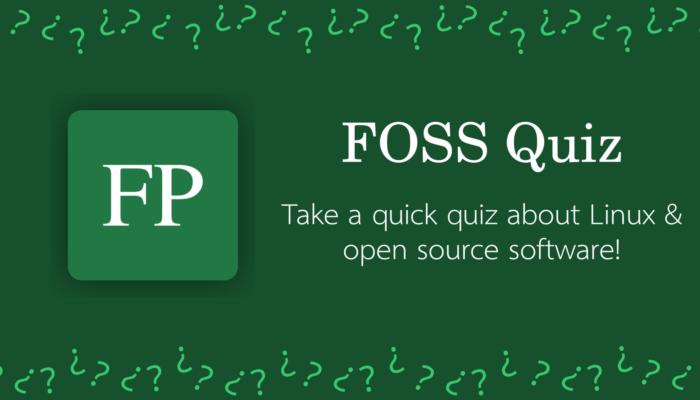 FOSS Quiz 16 December 22, 2020