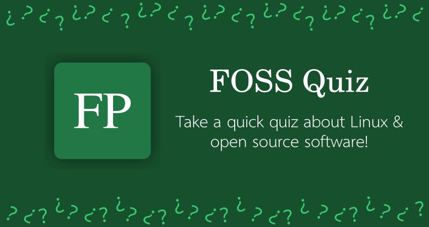 FOSS Quiz 13 December 22, 2020