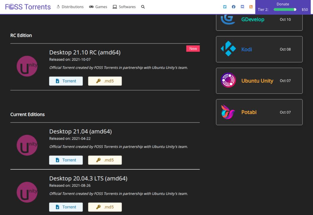 FOSS Torrents 5 October 12, 2021