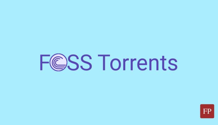 FOSS Torrents 1 October 12, 2021